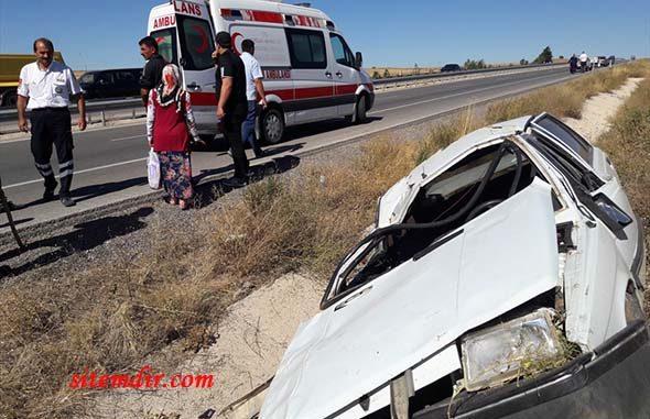 Sivas'ta trafik kazası 2 yaralı